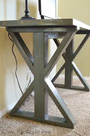 Diy Wood Desk The Apple Tree Custom Built Wood Desk