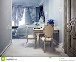 elegant bedroom with dining table stock photo image 64530694
