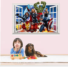 latest 3d super hero marvel party decoration the avengers wall