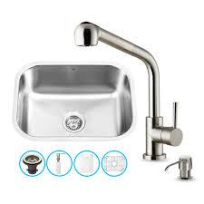 vigo undermount stainless steel kitchen sink delta faucets