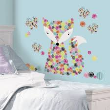 design classy pink fox monster high wall decals on blue wall near