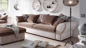 couch 3 sitzer 3 sitzer country polstersofa beige braun mit funktion