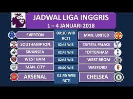 Jadwal Liga Inggris Jadwal Siaran Langsung Liga Inggris 1 4 Januari 2018