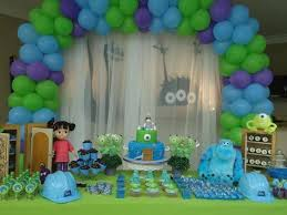 monsters inc baby shower decorations themed baby shower monsters inc baby shower