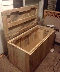 Diy Wooden Toy Box With Lid by Diy Pallet Wood Chest Pallet Trunk Pallet Furniture Plans