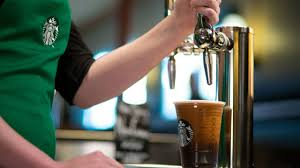 this starbucks coffee pours like a beer video business news