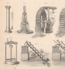 1874 print hydro dynamics hydraulics water supply conduit water