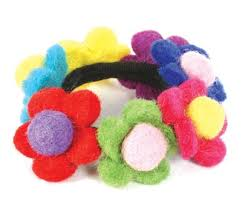 hair bobble bobble multicolour flowers