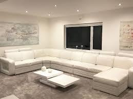 Sofas Leather Corner by White Leather Corner Sofa By Denelli Italia U0027granada U0027 Xx Large
