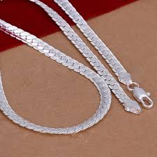 silver necklace womens images 5mm 925 solid sterling silver necklace chain 20 quot inch fashion men jpg