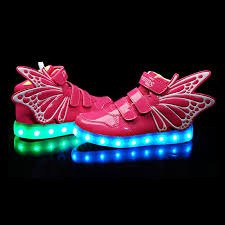 where can i buy light up shoes new boys girls led light up sneakers wings kids high dance shoes