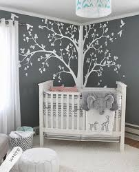 Nursery Room Wall Decor Baby Bedroom Home Decor Tree With Falling Leaves And