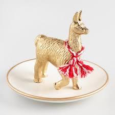 eclectic animal ring holder images Llama trinket dish world market tif&a