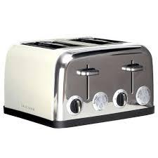 4 Slice Toaster White Spectrum Cream 4 Slice Toaster Dunelm