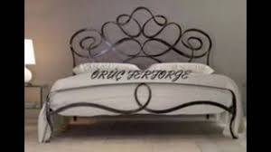 hand forged iron bed frame youtube