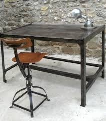 bureau fer forgé table basse metal sur mesure