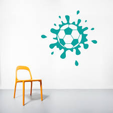 muddy soccer ball project for awesome soccer wall art home decor