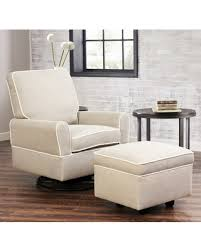 deal alert abbyson helga swivel glider chair and gliding ottoman