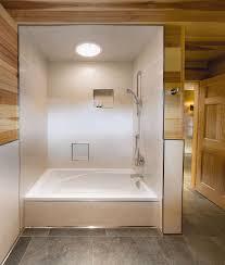 bathtub edging bathroom make an entrance bathroom tile schluter trim instead of