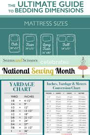 Queen Size Bed Dimensions Metric 65 Best Sizes And Yardage Images On Pinterest Sewing Tips
