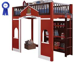 Bedroom Fire Truck Bunk Bed Diy Firetruck Bed Step  Fire - Step 2 bunk bed loft