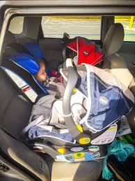 subaru car back three infant child car seats in forester back row page 2