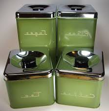 green kitchen canister set retro canister sets for kitchen counter decorative canisters