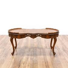 victorian ornate carved inlay coffee table victorian coffee