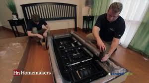 headboards for adjustable beds homemakers tempur ergo home delivery procedures youtube