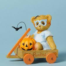 bear halloween mask cherished teddies bear in halloween mask figurine