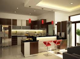 Images Of Modern Kitchen Cabinets Kitchen Dark Brown Wooden Floor Bright Countertop Showcase