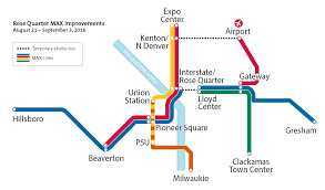 Beaverton Oregon Map by Rq Improvements Temporary Max System Map Trimet News