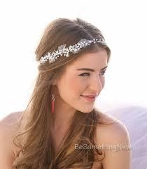 boho hair accessories pearl and rhinestone wedding hair vine bridal hair