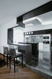 Grey Modern Kitchen Design by Kitchen Beautiful White Grey Red Wood Stainless Luxury Design