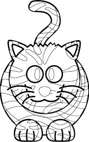 cartoon tiger black white line art coloring book colouring animal