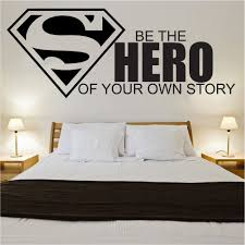 compare prices on girl hero wall online shopping buy low price 2016 new own hero boys wall sticker art kids room boys girls decor free shipping
