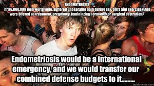 Pregnancy Hormones Meme - endometriosis if 176 000 000 men world wide suffered unbearable