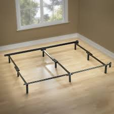 Metal Bed Frame Cover Zinus Compack 9 Leg Support Bed Frame For Box
