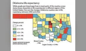 Oklahoma Travel Trends images Life expectancy dips in one oklahoma county barely improves jpg