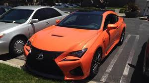 lexus paint uk lexus rc f with solar flare paint spotted in the metal