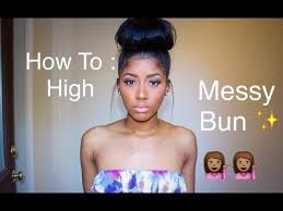 pics of black pretty big hair buns with added hair how to high messy bun with clip in hair extensions raquelbianka