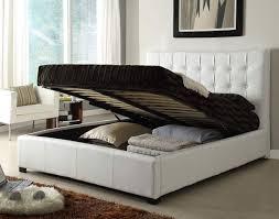 Bedroom Set King Size Bed rishon king size modern design white leather platform bed also