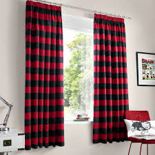 Black And White Striped Bedroom Curtains In The White Room With Black Curtains Integralbook Com