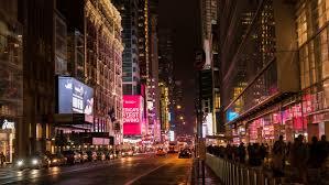new york city ny november 24 busy of downtown on