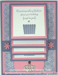 guneaux designs by beverly polen how to make a waterfall card