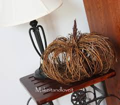 brown floral wire grapevine pumpkin make it and it