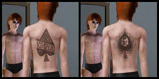 mod the sims ace of spades 5 tattoos