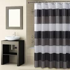 White And Black Shower Curtains Black Shower Curtains You U0027ll Love Wayfair