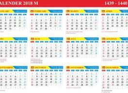 Kalender 2018 Hari Libur Indonesia Kalender Tahun 2018