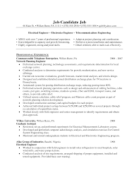 Sample Resume For Mechanical Engineers by Electrical Engineer Sample Resume Resume For Your Job Application